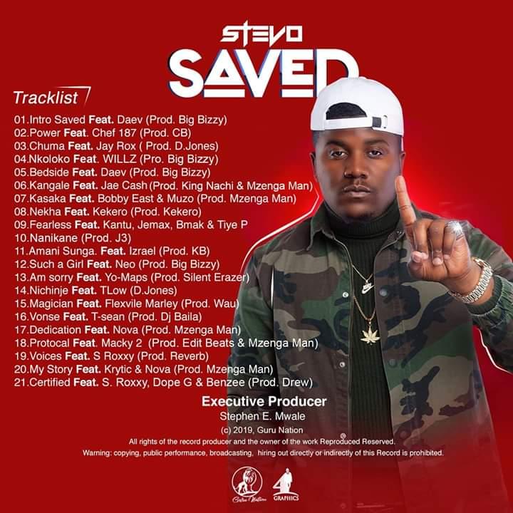 Stevo - Saved Album Tracklist