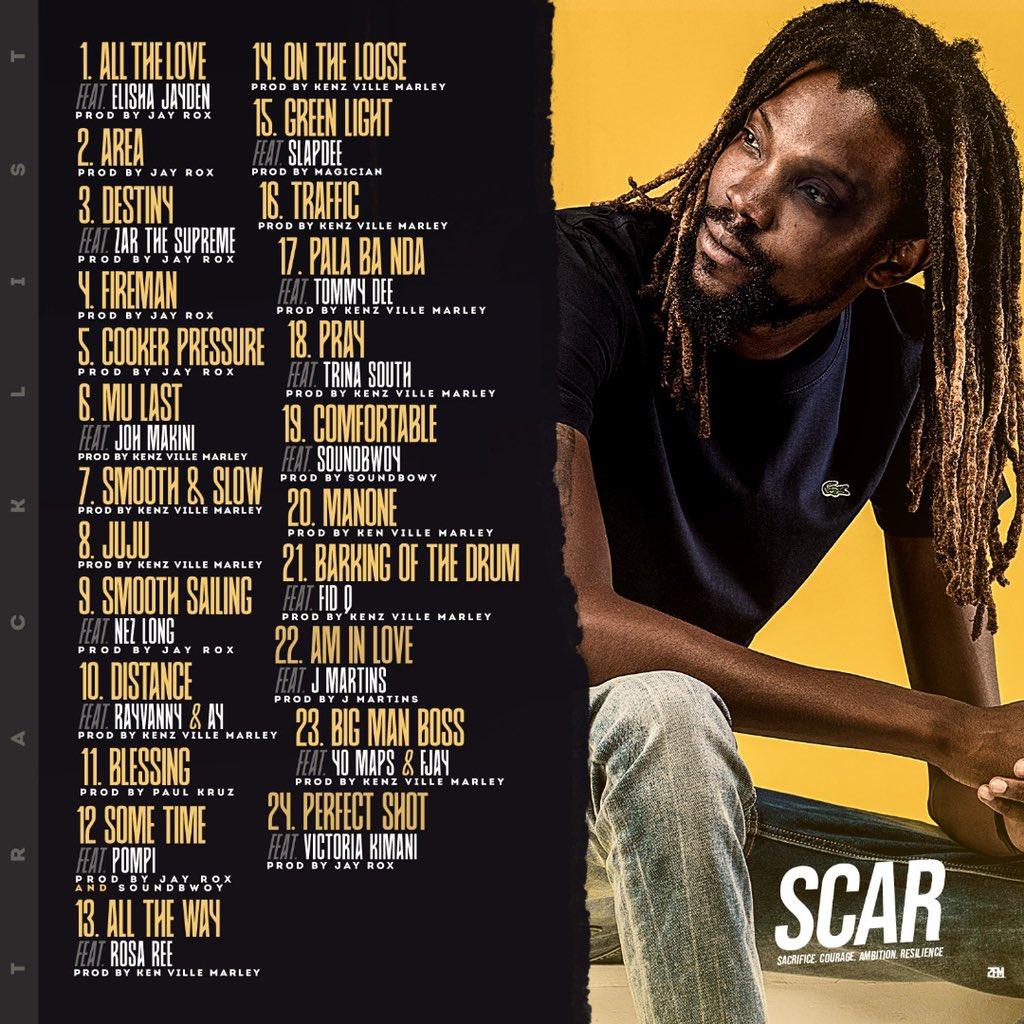 Jay Rox unveils Tracklist for 'SCAR' Album