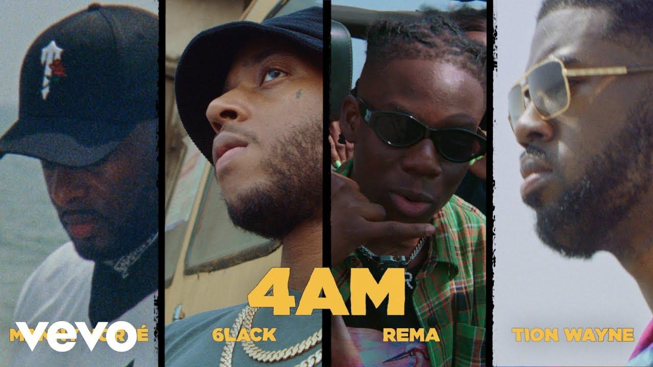 Rema, Manny Norté, 6LACK, Tion Wayne ft. Love Renaissance (LVRN) - 4AM (Official Video)