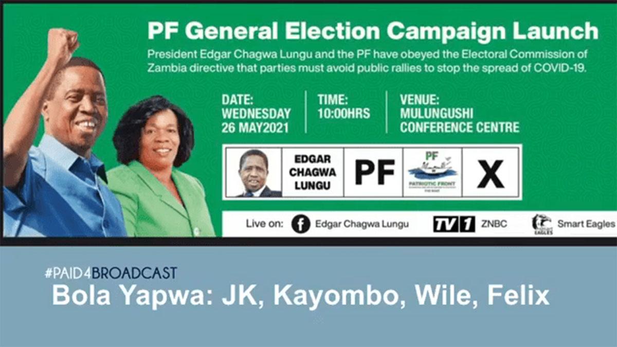 JK, Kayombo, Wile & Felix - Bola Yapwa (PF Campaign Song)