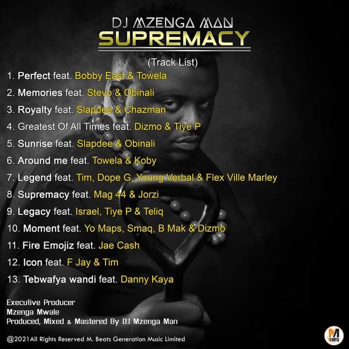 DJ Mzenga Man releases his album tagged 'Supremacy'